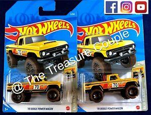 HOT WHEELS - Lot of 2 - '70 DODGE POWER WAGON Truck - 2021 NEW - E136