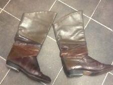 Women's SAXONE Low Heel Mid Calf Boots , size 6/39