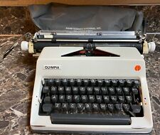 Olympia SM-9 Manual Typewriter Vintage 1975 w/ Extra Wide Carriage Cover Tested