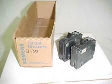 2 New Siemens Circuit Breaker Type Qp Q130 30 Amp 1 Pole 30A 1P