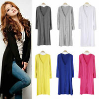 Womens Casual Long Cardigan Knit Knitwear Sweater Coat Long Wraps Outwear Jacket