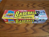 TOPPS 1991 BASEBALL CARDS COMPLETE-792 CARDS Chipper Jones Rookie