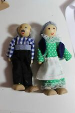 Melissa and Doug wooden Doll house figures Grandma Grandpa lot Ryans Room Size