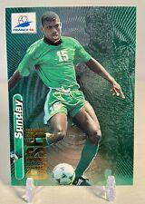 1998 Panini France 98 Sunday Oliseh #37 Nigeria World Cup Rainbow Foil AJAX