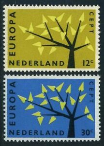 Netherlands 394-395,MNH.Michel 782-783. EUROPE CEPT-1962.Young Tree,19 leaves.