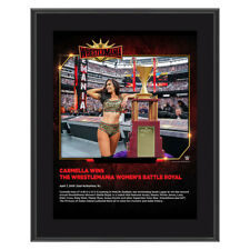 WWE CARMELLA WRESTLEMANIA 35 10X13 COMMEMORATIVE FRAMED PLAQUE VERY RARE