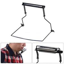 Metal Harmonica Mouth Organ Holder Harmonica Neck Stand Bracket for 10 Hole N1B5