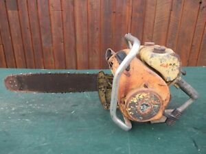 "Vintage CLINTON D35 1100A Chainsaw Chain Saw with 17"" Bar"