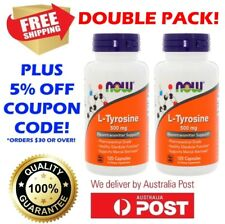 L-Tyrosine 500mg 2x 120 Caps NOW FOODS Amino Acid Mood Alert Thyroid Metabolism