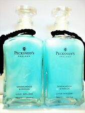 PECKSNIFF'S England SANDALWOOD VANILLA Luxury Bath Soak, 23.6 oz/700 mL, NEW x 2