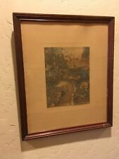 WALLACE  NUTTING ORIGINAL HAND-COLORED SIGNED PRINT