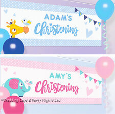 4ft Personalised Christening Banner Party Decoration Scene Setter Photo Backdrop