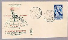 ITALIA BUSTA 1952 REPUBBLICA Venetia Mostra d'Oltremare n° 142 ANNULLO FDC ROMA