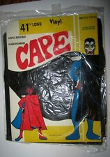 Vintage 1960's original Dracula vinyl cape made in Taiwan Mint in sealed package
