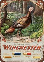 1905 Winchester Shotgun Shells Hunting Turkey Outdoors Ammo Metal Sign 8x12 inch