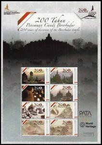 Indonesia - Indonesie Issue 2014 Special (Sheet) Borobudur World Heritage