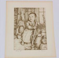 Willy Seiler Japan Art Studio STARTING LIFE Etching Limited Korean Ed. 66/210
