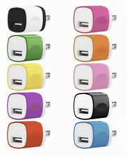 10x Color 1A Usb Power Adapter Ac Home Wall Charger Us Plug For iPhone 5S 6 7 8