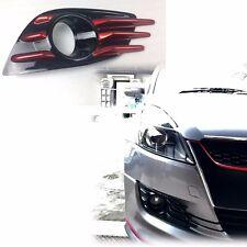 BLACK + RED  FOG LAMP COVER FOR SWIFT 11-14 5D HATCHBACK(FIT ON OEM BUMPER USE)