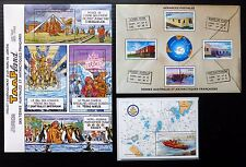 FRANCE FRENCH ANTARCTIC TERRITORY 2004 M/Sheets (3) MS520, 523 & 528 U/M NB1029