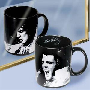"""New - Elvis Presley """"Signature"""" 12 oz Black Ceramic Mug - Collectible by Vandor"""