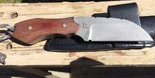 US Custom Hand Made PAUL LETOURNEAU Hunting Fighting Knife & Sheath Case