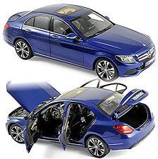 Mercedes-Benz classe C Limousine W205 - 2014-17 bleu bleu métallisé 1:18 Norev