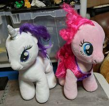 My Little Pony Build A Bear Pinkie Pie & Rarity Plush Stuffed Animal Lot of 2