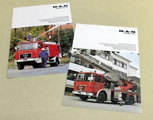 2 x Prospekt  Feuerwehr MAN 14.192 F - DL und MAN 16.240 FA - LF , Fahrgestell