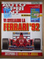 AUTOSPRINT n°5 1992 con inserto GUIDA Tutti i Circuiti del Mondo  [P62]