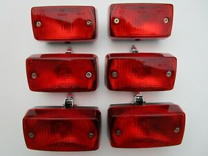 6 x 12V Rear Fog Lights with Mounting Brackets Trailer truck car SPECIAL OFFER