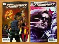 STRIKEFORCE #1 Sorrentino Main Cover + Immortal Variant Set Marvel 2019 NM+