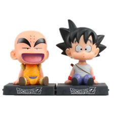 Bobble Head Dragon Ball Z Son Goku Krillin Figure Phone Holder Car Decoration NB