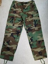 Used Authentic US Military Woodland Camo Pants