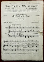 The Oxford Choral Songs No. 191 Go Forth With God! By Barclay Baron – Pub. 1937