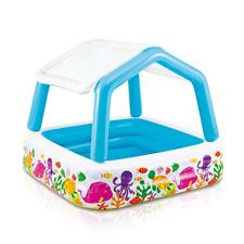 Intex Kids Backyard Deluxe Pool Sun Shade Inflatable Swimming Pool | Fun, Canopy