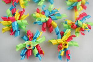 20pcs / 50pcs Dog Hair Bows Colorful Ribbon XMAS/Party Pet Grooming Rubber Bands