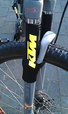 BICI BICICLETTA PROTEZIONE FORCELLA KTM Giallo Neon FORK PROTECTION catene montanti protezione