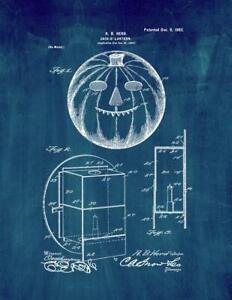 Jack-o'-lantern Patent Print Midnight