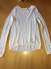 Hollister Women's White Long Sleeve Knit Sweater Small