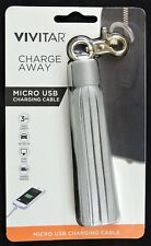 """Vivitar ChargeAway 3"""" Micro USB Charging Cable Tassel android samsung blackberry"""