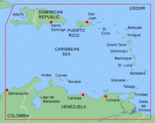 GARMIN BLUECHART SOUTHEAST CARIBBEAN MUS030R MARINE DATA CARD GPS NAVIGATION