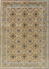 Vintage One-of-a-Kind GREEN Najafabad Area Rug Hand-Knotted Oriental Wool 8'x11'