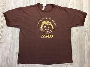 Vintage Mad Magazine Ringer T-Shirt Size XL