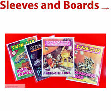 50 x Starblazer Comic Bags Only. Crystal Clear Sleeves Digest DC Thomson Size1 .