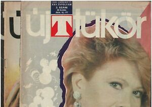 Hungarian communist era cultural, theater magazines, lot of 3, UJ TUKOR, 1988