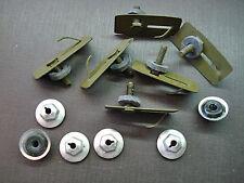 6 pcs GM body side door trunk quarter belt moulding clips sealer PAL nuts NOS