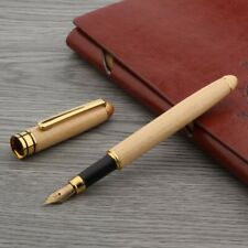 Jinhao White Wood With Golden Trim Medium Nib Fountain Pen