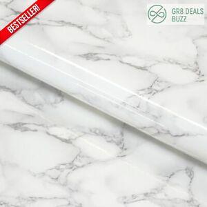 White Marble Granite Contact Paper Countertop Vinyl Self Adhesive Film Counter