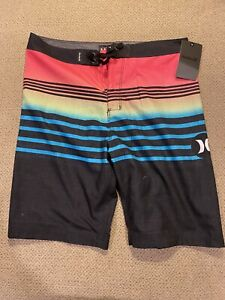 Boys Pink Hurley  Swimsuit Trunks Board Shorts 28 16 New